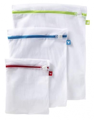ihocon: Whitmor Color Coded Zippered Mesh Wash Bags (3 Piece Set) 洗衣袋