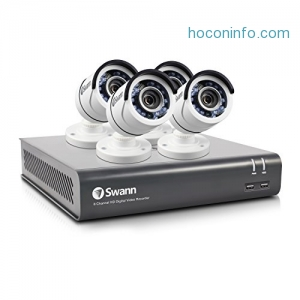 ihocon: Swann SWDVK-845754-US 8 Channel HD CCTV 1080p Security System Kit with 1 TB & 4x 1080p Bullet Surveillance Cameras居家防盜監視系統