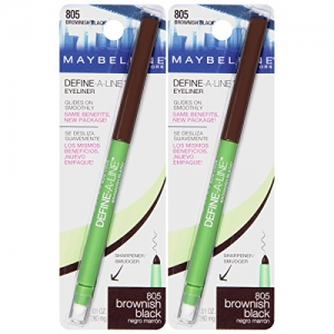 ihocon: Maybelline New York Define-a-line Eyeliner Makeup, Brownish Black, 2 Count 眼線筆