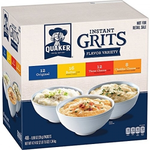 ihocon: Quaker Instant Grits Variety Pack, 0.98 oz, 48 Count 即食玉米粉早餐