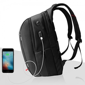 ihocon: SPARIN Laptop Backpack Up to 17.3-Inch Laptops/USB Charging Port/Anti Thief 電腦背包 - 防竊, 充電port