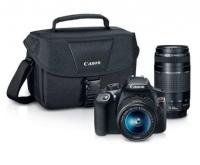 Canon EOS Rebel T6 單反相機+ 18-55mm鏡頭 + 75-300mm鏡頭 + 相機包$399.99 (原價$849.99, 53% Off)