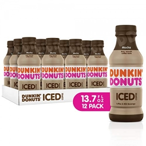 ihocon: Dunkin Donuts Iced Coffee, Mocha, 13.7 Fluid Ounce (Pack of 12)  冰咖啡