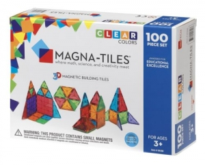ihocon: Magna Tiles 100pc Clear Color 3D Magnetic Building Tiles - Valtech 磁性積木