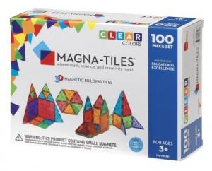 ihocon: Magna Tiles 100pc Clear Color 3D Magnetic Building Tiles - Valtech 磁性積木