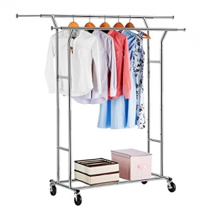 ihocon: LANGRIA Double Rail Garment Racks 雙桿衣架