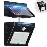 WHATOOK 太陽能LED動作感應室外燈 $5.99(原價$14.99, 60% Off)