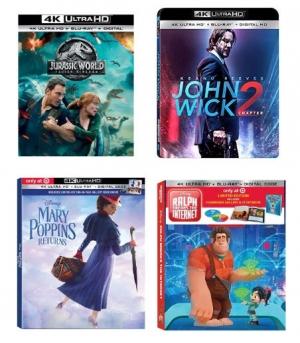 Target: 買4K movie(共20頁) 就送$5 Gift Card