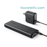 ihocon: Anker 快速充電行動電源 PowerCore Speed 20000 PD, 20100mAh Portable Charger & 30W Power Delivery Wall Charger Bundle