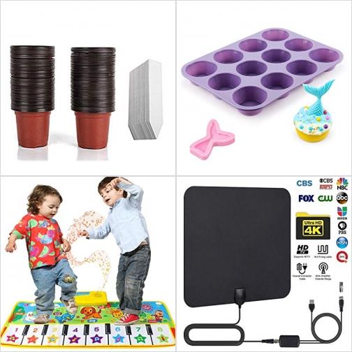 [Amazon折扣碼] 花盆及標籤, 矽膠cupcake模, 兒童踩踩琴, 室內天線 額外折扣!