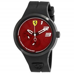 ihocon: Ferrari FXX Red Dial Black Silicone Men's Watch 830473 法拉利男錶