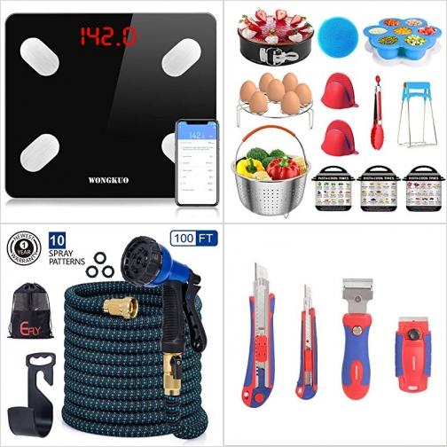 [Amazon折扣碼] 體脂體重計, 電子壓力鍋配件, 伸縮澆花水管, 美工刀及刮刀組 額外折扣!