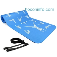 "ihocon: Yes4All Premium NBR Printed Yoga Mat 1/2-inch (72""x24"") with Carrying Strap瑜珈墊"