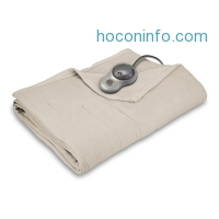 ihocon: Sunbeam Quilted Fleece Heated Blanket, Twin 電熱毯