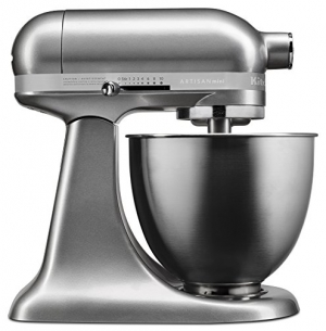 ihocon: KitchenAid KSM3311XCU Artisan Mini Series Tilt-Head Stand Mixer, 3.5 quart, Contour Silver  3311 迷你係列傾斜式立式攪拌機,3.5夸脫,輪廓銀色
