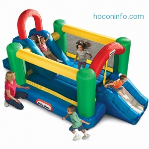 ihocon: Little Tikes Jump and Double Slide Bouncer充氣遊戲屋