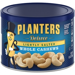 ihocon: Planters Whole Cashews, Lightly Salted, 8.5 Ounce Canister (Pack of 3)腰果, 少鹽 3罐