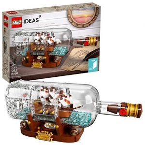 ihocon: LEGO Ideas Ship in a Bottle 21313 Expert Building Kit(962 Pieces)