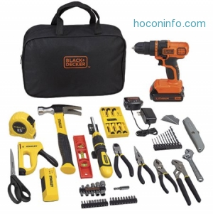 ihocon: STANLEY BLACK+DECKER BCPKSBD99CWM 20V 79pc Home Project Kit
