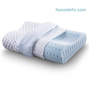 ihocon: Comfort & Relax Ventilated Memory Foam Pillow with AirCell Technology, Standard, 1-Pack