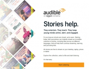 [新冠病毒抗疫期間] Amazon旗下有聲書Audible 提供免費有聲書(六國語言)