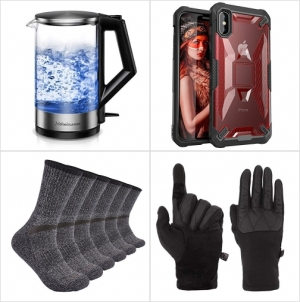 [Amazon折扣碼] 電熱水瓶, iPhone XS / X 手機套, 男士Merino羊毛襪, 觸控螢幕手套 額外折扣!