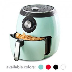 ihocon: Dash DFAF455GBAQ01 Deluxe Electric Air Fryer with Temperature Control,6 qt氣炸鍋