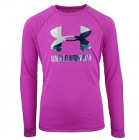 ihocon: Under Armour Girls' UA Big Logo L/S T-Shirt