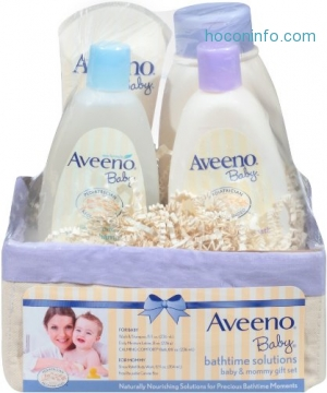 ihocon: Aveeno Baby Daily Bath Time Solutions Gift Set To Prevent Dry Skin