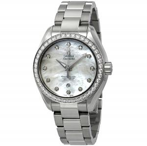 ihocon: Omega Seamaster Aqua Terra Diamond Ladies Watch 23115342055002 歐米茄海馬系列女鑽錶