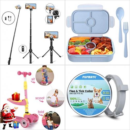 [Amazon折扣碼] 可站立自拍桿, 兒童便當盒, 可坐/可站 三輪兒童滑板車, 寵物防蚤頸圈 額外折扣!