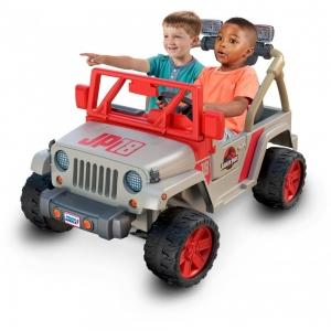 ihocon: Power Wheels Jurassic Park Jeep Wrangler Ride-On Vehicle 侏羅紀公園電動車