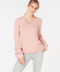 ihocon: Charter Club Ruffled Pure Cashmere Sweater - 多色可選