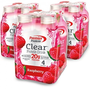 ihocon: Premier Protein Clear Drink, Raspberry, 16.9 fl oz Bottle, (12 Count) 蛋白質飲品