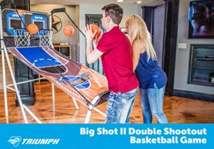 ihocon: Triumph Big Shot II Double Shootout Basketball Game with LED Electronic Scorer and Time Clock for 8 Different Games 電子籃球比賽機