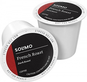 ihocon: [Amazon自家品牌] Solimo Dark Roast Coffee K-Cup Pods, French Roast, Compatible with 2.0 K-Cup Brewers, 100 Ct. 咖啡膠囊