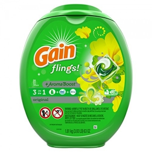 ihocon: Gain Flings Laundry Detergent Pacs, Original Scent, 81 count