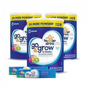 ihocon: Go & Grow by Similac Milk Based Toddler Drink, (Pack Of 3) 36oz cans + 2 On-The-Go Stickpacks