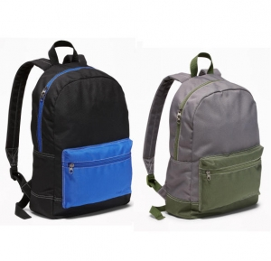 ihocon: Color-Blocked Canvas Backpack for Boys