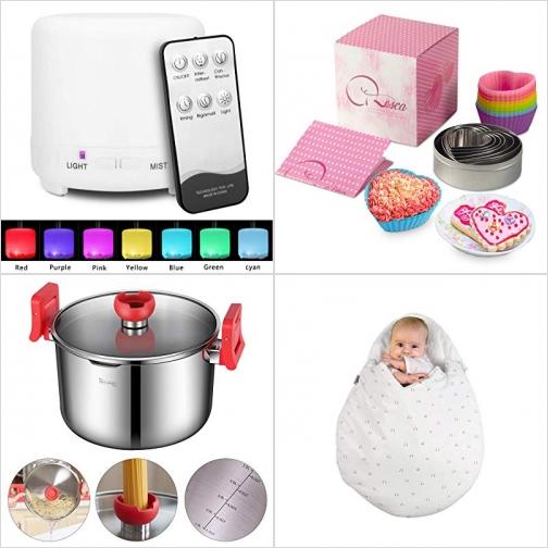 [Amazon折扣碼] 精油擴香機, 矽膠烤杯及餅乾模, 不銹鋼煮麵鍋, 嬰兒睡袋 額外折扣!