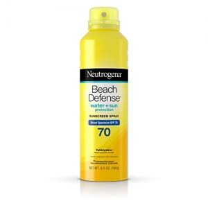 ihocon: Neutrogena Beach Defense Body Spray Sunscreen with Broad Spectrum SPF 70, Water-Resistant and Oil-Free Sun Protection, 6.5 oz 露得清沙灘防曬身體噴霧防曬霜, 70,防水,無油防曬,6.5盎司