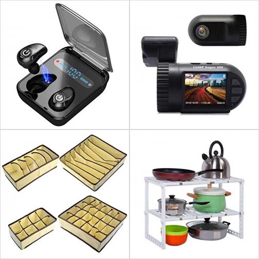 [Amazon折扣碼] 真無線耳機, 行車記錄器, 內衣/小物收納盒, 水槽下方收納架 額外折扣!