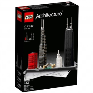 ihocon: LEGO樂高 Architecture Chicago 21033 Skyline Building Blocks Set芝加哥建築
