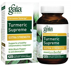 ihocon: Gaia Herbs Turmeric Supreme Extra Strength, Vegan Liquid Capsules, 60 Count 薑黃液體膠囊,60粒