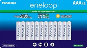 ihocon: Panasonic BK-4MCCA12FA eneloop AAA 2100 Cycle Ni-MH Pre-Charged Rechargeable Batteries, (package includes 12AAA silver or 12AAA white)