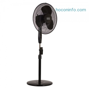 ihocon: BLACK+DECKER BFSR16B 16 in. Stand Fan with Remote Control