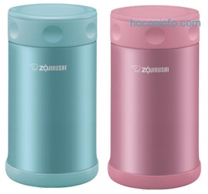 ihocon: Zojirushi Stainless Steel Food Jar 25 oz. / 0.75 Liter, Shiny Pink保温便當