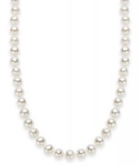 ihocon: 18 Cultured Freshwater Pearl Strand Necklace (7-8mm) in Sterling Silver