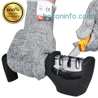 ihocon: Ejoyous 3 Stage Knife Sharpener with Cut Resistant Gloves 三段磨刀器+防切手套