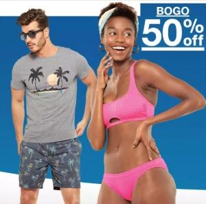 Target: 男士, 女士及兒童泳衣, 游泳遮陽帽及遮陽衣 BOGO 50% off